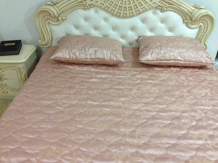 Комплект для спальни МарТекс Марго: покрывало 240 х 260 см, 2 наволочки 50 х 70 см, цвет: лиловый. 05-0361-405-0361-4Комплект покрывало стег. Марго лиловый с навол. 240 х 260, 50 х 70. Жаккард