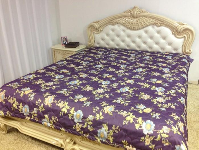 Покрывало МарТекс, цвет: фиолетовый 200 х 220 см. 05-0388-305-0388-3Покрывало стеганное Фиолетовый 1566-2 200 х 220