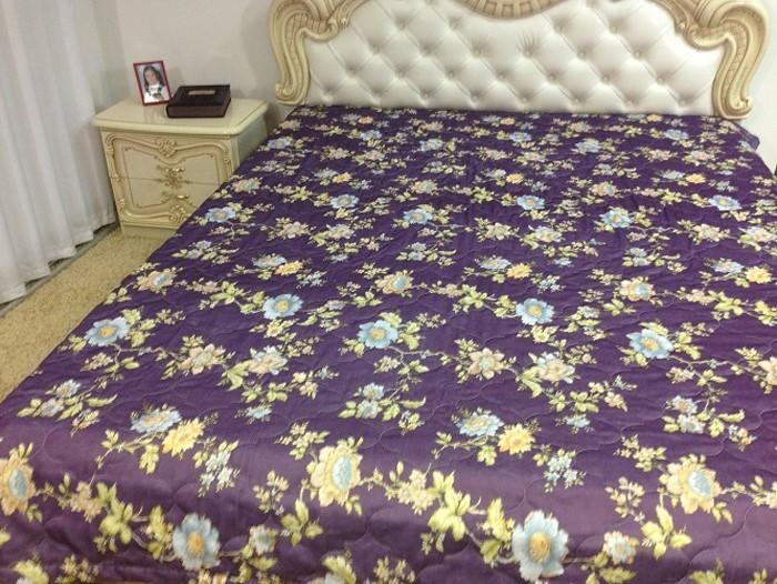 Покрывало МарТекс, цвет: фиолетовый 210 х 230 см. 05-0389-305-0389-3Покрывало стеганное Фиолетовый 1566-2 210 х 230