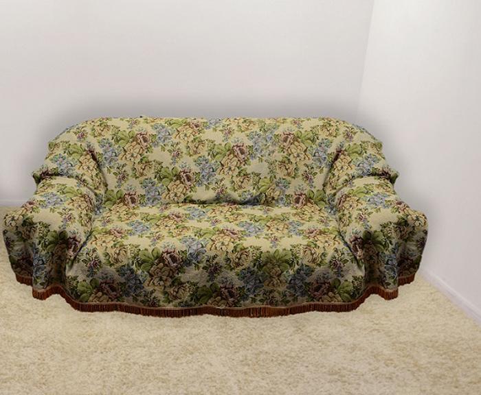 Набор чехлов для дивана и кресел МарТекс, 3 предмета. 05-041605-0416Гобеленовые полотна для покрывал изготавливаются из качественного хлопка, с добавлением полиэстера. Ткань очень плотная, прочная, отлично сохраняет форму и в то же время мягкая и приятная на ощупь. Пестрый рисунок достигается путем переплетения нитей разных цветов, а не путем окрашивания готового полотна.Состав гобелена для повышения износостойких качеств производители добавляют до 50% полиэстера. Достоинства:- экологичность. Преобладание натуральных волокон в составе гобеленового полотна позволяет обеспечить покрывалу хорошую воздухопроницаемость, гигроскопичность и достойные гигиенические свойства. - простота ухода. Покрывало не требует частых стирок, не боится солнечного света, не выцветает и не линяет;- не требует подкладки и уплотнителя. Ткань сама по себе достаточно жесткая, хорошо держит форму и помогает сгладить неровности;- износостойкость. Долговечность обеспечивает особая техника плетения нитей, а добавление синтетических волокон помогает увеличить срок службы изделия.Покрывала из гобелена благодаря своей пестроте материал сам по себе не нуждается в частой стирке.Состав: 50%хлопок, 50% полиэстер, Уход: стирка 30градусов в деликатном режиме, глажка в режиме хлопка.