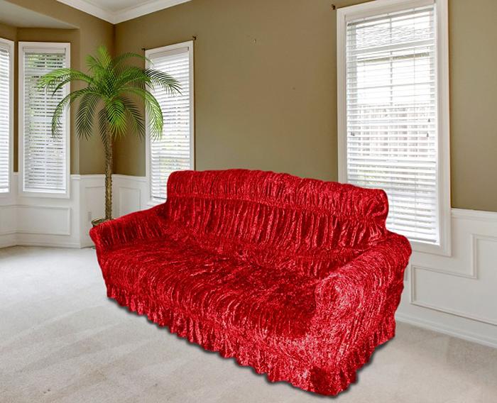 Набор чехлов МарТекс, для трехместного дивана и 2 кресел, цвет: бордовый. 05-0461-3 набор чехлов для мягкой мебели 3 предмета every 1799 char009