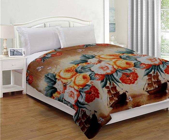 Комплект МарТекс Нежность. Корабли: покрывало 200 х 220 см, подушка. 05-0636-3