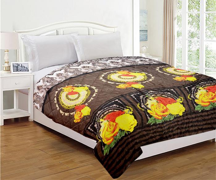Комплект МарТекс Шоколад: покрывало 200 х 220 см, подушка 45 х 45 см. 05-0669-3 подушка декоративная мартекс звездный круг водолей цвет бирюзовый 45 х 45 см
