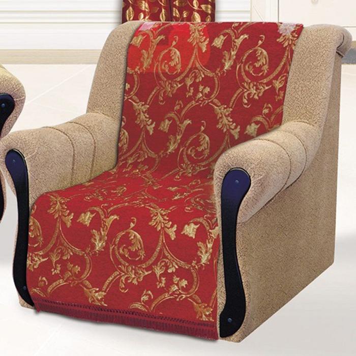 Накидка на кресло МарТекс Гранат, 70 х 140 см, 2 шт. 05-0709-105-0709-1Гобеленовые полотна для покрывал изготавливаются из качественного хлопка, с добавлением полиэстера. Ткань очень плотная, прочная, отличносохраняет форму и в то же время мягкая и приятная на ощупь. Пестрый рисунок достигается путем переплетения нитей разных цветов, а не путемокрашивания готового полотна. Состав гобелена для повышения износостойких качеств производители добавляют до 50% полиэстера. Достоинства: - экологичность. Преобладание натуральных волокон в составе гобеленового полотна позволяет обеспечить покрывалу хорошуювоздухопроницаемость, гигроскопичность и достойные гигиенические свойства.- простота ухода. Покрывало не требует частых стирок, не боится солнечного света, не выцветает и не линяет; - не требует подкладки и уплотнителя. Ткань сама по себе достаточно жесткая, хорошо держит форму и помогает сгладить неровности; - износостойкость. Долговечность обеспечивает особая техника плетения нитей, а добавление синтетических волокон помогает увеличить срокслужбы изделия. Покрывала из гобелена благодаря своей пестроте материал сам по себе не нуждается в частой стирке. Состав: 50% хлопок, 50% полиэстер,Уход: стирка 30 градусов в деликатном режиме, глажка в режиме хлопка.