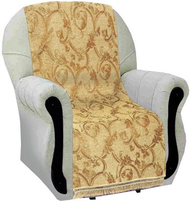 Накидка на кресло МарТекс Листопад, 70 х 140 см, 2 шт. 05-0714-105-0714-1Гобеленовые полотна для покрывал изготавливаются из качественного хлопка, с добавлением полиэстера. Ткань очень плотная, прочная, отлично сохраняет форму и в то же время мягкая и приятная на ощупь. Пестрый рисунок достигается путем переплетения нитей разных цветов, а не путем окрашивания готового полотна. Состав гобелена для повышения износостойких качеств производители добавляют до 50% полиэстера. Достоинства: - экологичность. Преобладание натуральных волокон в составе гобеленового полотна позволяет обеспечить покрывалу хорошую воздухопроницаемость, гигроскопичность и достойные гигиенические свойства.- простота ухода. Покрывало не требует частых стирок, не боится солнечного света, не выцветает и не линяет; - не требует подкладки и уплотнителя. Ткань сама по себе достаточно жесткая, хорошо держит форму и помогает сгладить неровности; - износостойкость. Долговечность обеспечивает особая техника плетения нитей, а добавление синтетических волокон помогает увеличить срок службы изделия. Покрывала из гобелена благодаря своей пестроте материал сам по себе не нуждается в частой стирке. Состав: 50%хлопок, 50% полиэстер,Уход: стирка 30градусов в деликатном режиме, глажка в режиме хлопка.