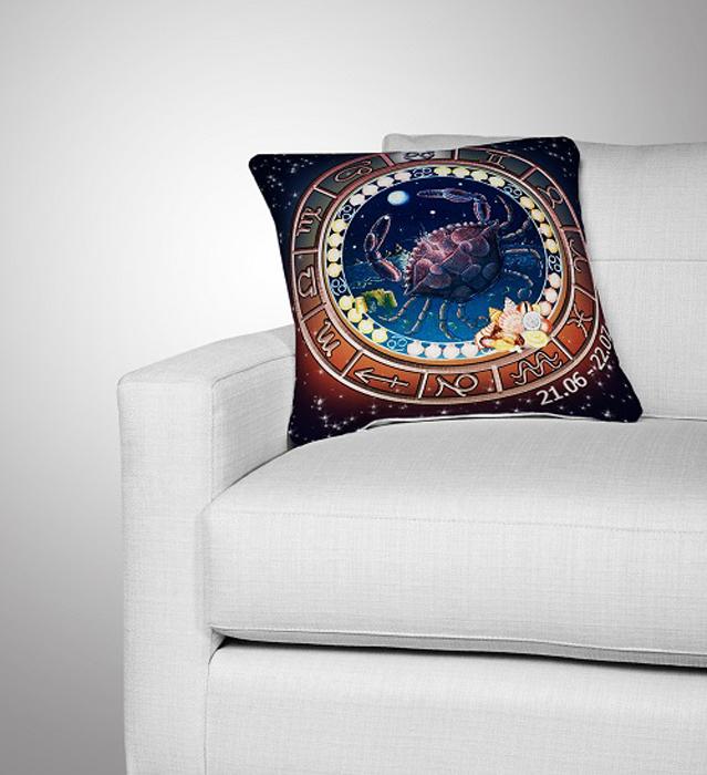 Подушка декоративная МарТекс Рак, цвет: темно-синий, коричневый, 36 х 36 см16-0294-1Декоративная подушка, рисунок выполнен методом фотопечати. Наполнение: полое силиконизированное волокно Hollow Fiber.