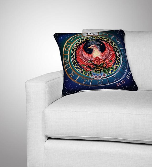 Подушка декоративная МарТекс Скорпион, цвет: коричнево-красный, 36 х 36 см16-0295-1Декоративная подушка, рисунок выполнен методом фотопечати. Наполнение полое силиконизированное волокно Hollow Fiber.