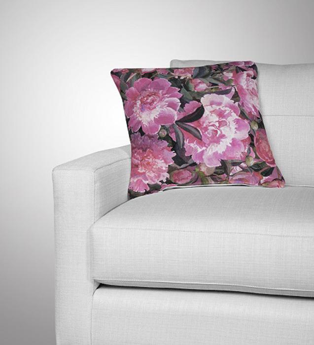 Подушка декоративная МарТекс Фиолетус, цвет: фиолетовый, 45 х 45 см16-0649-1Декоративная подушка, рисунок выполнен методом фотопечати. Наполнение полое силиконизированное волокно Hollow Fiber.