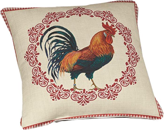 Подушка декоративная МарТекс Сказочный петушок, цвет: красный, 45 х 45 см16-0938-1Декоративная подушка, рисунок выполнен методом фотопечати. Наполнение полое силиконизированное волокно Hollow Fiber.