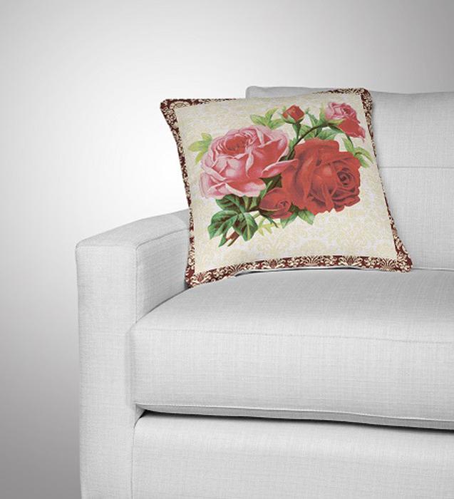 Декоративная подушка, рисунок выполнен методом фотопечати. Наполнение полое силиконизированное волокно Hollow Fiber.