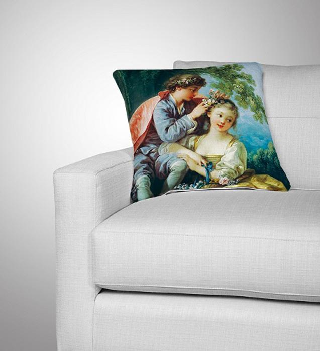 Подушка декоративная МарТекс  Весна , цвет: зеленый, 45 х 45 см16-1249-1Декоративная подушка, рисунок выполнен методом фотопечати. Наполнение полое силиконизированное волокно Hollow Fiber.