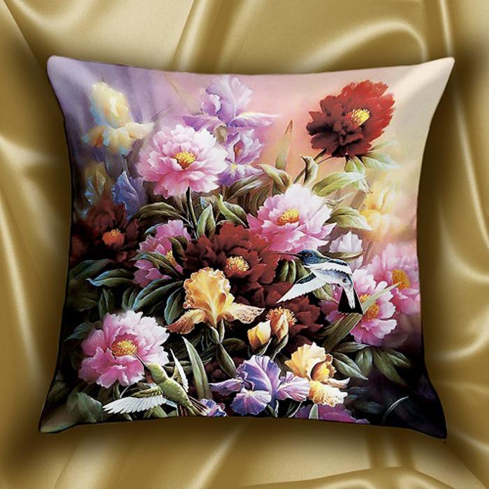 Подушка декоративная МарТекс Аромат весны, цвет: красный, 45 х 45 см16-1566-1Декоративная подушка, рисунок выполнен методом фотопечати. Наполнение полое силиконизированное волокно Hollow Fiber.