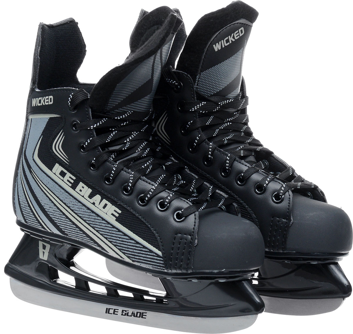 """Коньки хоккейные мужские Ice Blade """"Wicked"""", цвет: серый, черный. Размер 41"""