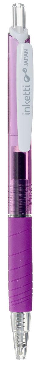 Penac Ручка гелевая автоматическая Inketti фиолетоваяBA3601-32EFНовинка Penac Inketti из Японии. Самые быстросохнущие чернила в мире. Сложная технология и яркие чистые цвета делают Inketti Gel уникальной. Вы будете приятно удивлены ее долгим, стабильно высоким и четким качеством письма.Но главное, надписи, сделанные ей, высыхают гораздо быстрее, чем любыми аналогичными ручками, что подтверждено лабораторными исследованиями. Двойной шарик – 3в1. Система двойного шарика обеспечивает три основных преимущества: - исключительную плавность письма- предотвращение утечки чернил- защиту чернил от высыхания, когда ручка не используется. Экономичный расход чернил. Большой объем чернил, точная подача и тонкая линия письма гарантируют, что Penac Inketti хватит надолго. Вы можете быть уверены, что чернила не закончатся в них быстро.Новая формула чернил-мягкое письмо. Чернила Penac Inketti являются собственной разработкой компании. Они прошли множество тестов на мягкость, скорость высыхания, яркость, впитываемость в бумагу. Наличие в пишущем узле керамического шарика, исключительного по своей надежности и долговечности, дополнительно гарантирует плавное, стабильно высокое качество письма.