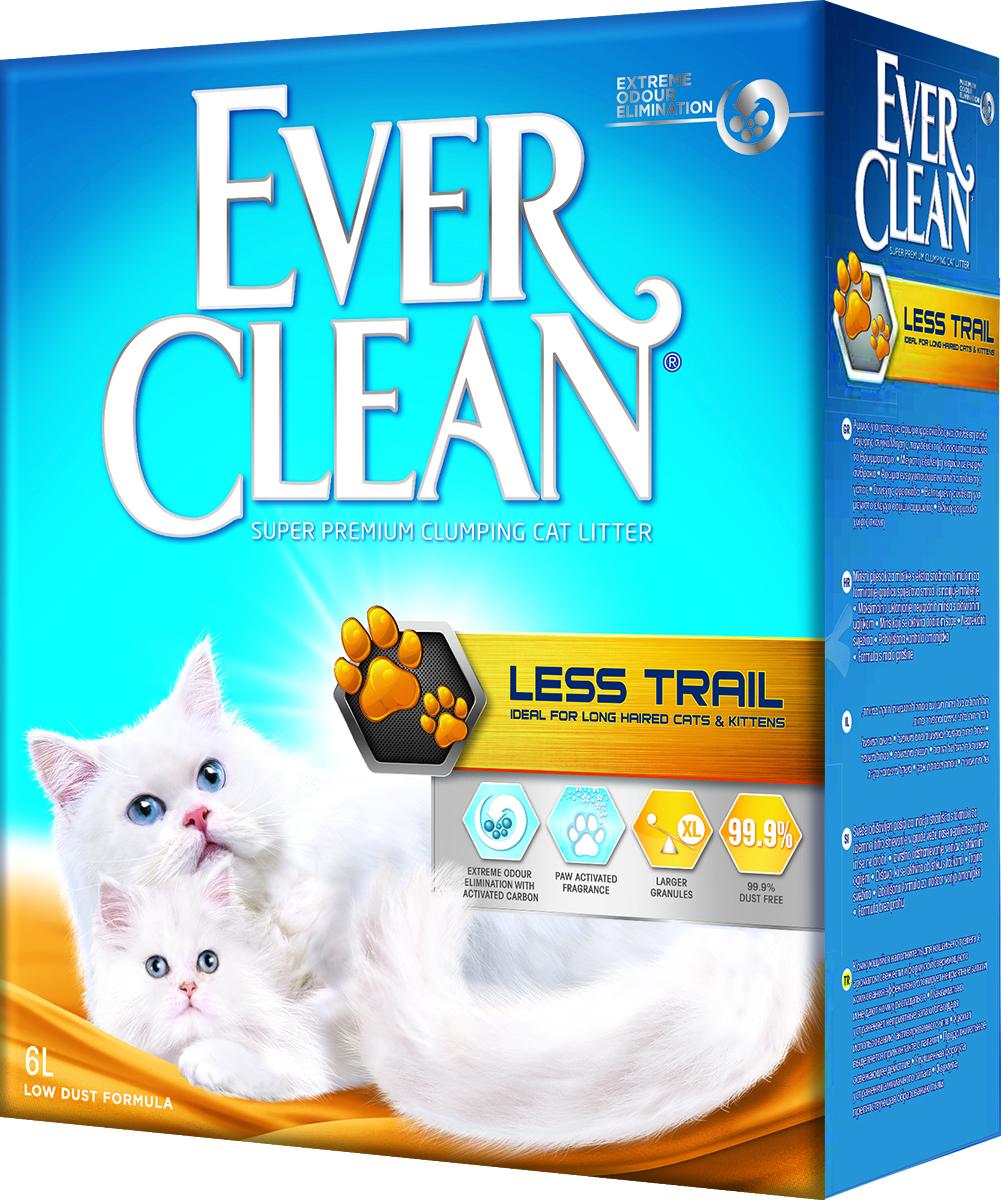 Наполнитель для кошачьего туалета Ever Clean Less Trail, комкующийся, для длинношерстных кошек, 6 л492215_Less TrailНаполнитель Ever Clean Less Trail - это элитная серия высококачественных комкующихся наполнителей с уникальными свойствами. Наполнитель состоит из специально обработанной и очищенной от пыли глины. Гранулы наполнителя обладают уникальными впитывающими свойствами и содержат активный компонент, который уничтожает запах, связанный с развитием микробов. В ядро каждой гранулы помещен специальным образом обработанный активированный уголь для максимального контроля запахов. Гранулы наполнителя не только отлично впитывают, но и образуют крепкие трудноразбиваемые комки. Благодаря крупным гранулам, он меньше разбрасывается по сторонам и не прилипает к шерсти, идеально подходит для длинношерстных кошек.Состав: глина, активированный уголь.Объем: 6 л.