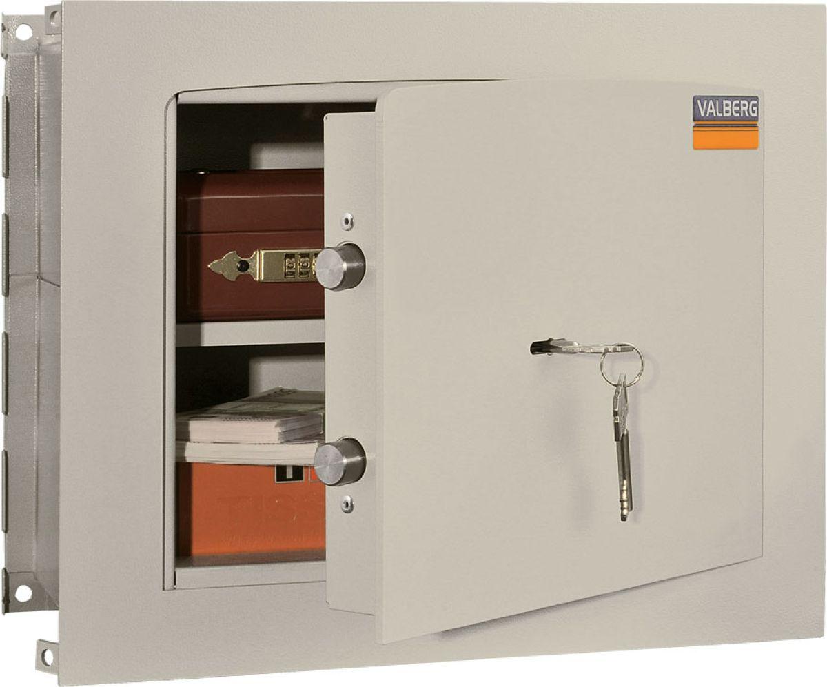Встраиваемый сейф предназначен для хранения документов и ценностей дома или в офисе. Устойчивость к взлому: ГОСТ Р 55148-2012 - класс S1.  Трехсторонняя ригельная система запирания.  Защита замка от высверливания.  Усиленные внутренние петли с углом открывания двери на 90 градусов.  Устройство для армирования в стену.  Толщина лицевой панели - 5 мм.  Комплектуются ключевым замком KABA MAUER.