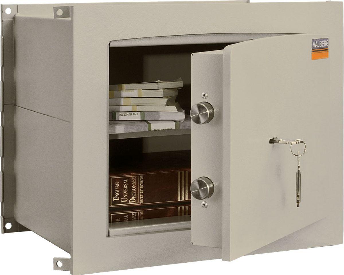 """Встраиваемый сейф Valberg """"AW-1 3329"""" - устойчивый ко взлому сейф, поскольку его конструкция предполагает установку прямо в стене. Сейфу присвоен 1-й класс взломоустойчивости. Модель оснащена надежным электронным замком с защитой от высверливания ригельной системой запирания. Valberg """"AW-1 3329"""" - безопасное хранилище не только для офиса, но и для дома. Рекомендованные суммы хранения денежных средств - до 3 миллионов рублей в домашних условиях и до 800 тысяч в случае если это бюджетные деньги организации. Спокойная светло-серая расцветка позволяет сейфу гармонично вписаться в окружающее пространство, а порошковое покрытие защитит его дверцу от внешних повреждений."""
