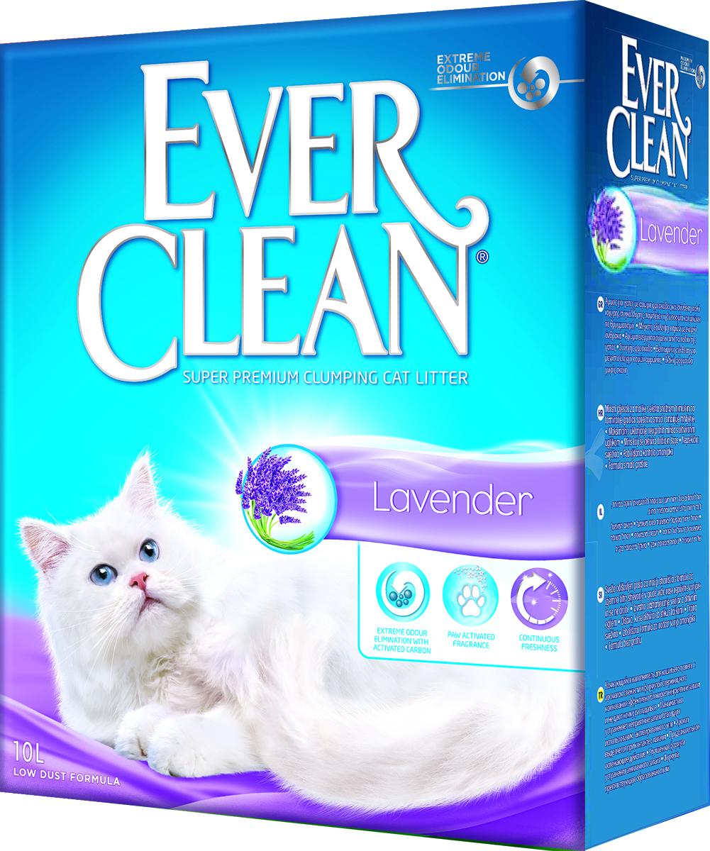 Наполнитель для кошачьего туалета Ever Clean  Lavander , комкующийся, с ароматом лаванды, 10 л - Наполнители и туалетные принадлежности