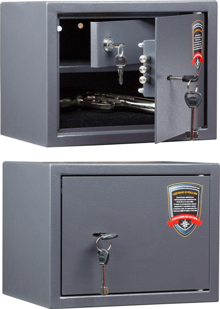 Сейф Aiko TT-23S11299112014Сейф Aiko TT-23 - усиленный сейф для хранения оружия.Его прочная сварная конструкция из стали толщиной 1,2 мм с усиленной дверцей, толщина лицевой панели которой 2,8 мм, запирающейсятрехригельным ключевым замком Бордер (Россия) - прослужит вам очень долго.Поверхность сейфа покрыта износостойким порошковым покрытием. Так же, конструкционно предусмотрена возможность анкерного крепления сейфа к стене.Имеется, записающееся на ключ, отделение для хранения патроновСейфы линии Aiko целиком отвечают требованиям МВД РФ к хранению короткоствольного оружия и сертифицированы на устойчивость к взлому по стандарту ГОСТ Р 50862-2005.
