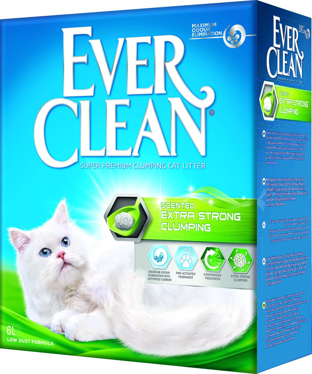 Наполнитель для кошачьего туалета Ever Clean  Extra Strong Clumping Scented , комкующийся, с ароматизатором, 6 л - Наполнители и туалетные принадлежности