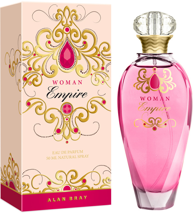 Alan Bray Парфюмированная вода Empire Woman, женская, 50 мл2001011124Элегантный и сияющий аромат Empire Woman-вдохновение красотой, очарованием и нежностью женщины.Роскошные ноты жасмина, ванильной орхидеи и нежного ландыша, сочные аккорды грейпфрута, тропических фруктов и сахарной клубники сплетаются в великолепную, чарующую композицию, окружая свою обладательницу мягким облаком женственности и благоухания. Чувственные ноты белого мускуса, амбры и сандала окутывают теплом и оставляют за собой тонкий притягательный шлейф Семейство ароматов: цветочно-фруктовые Пирамида аромата: Верхние ноты: грейпфрут, тропические фрукты, клубникаНоты «сердца»: жасмин, ванильная орхидея, ландыш Ноты шлейфа: мускус, сандал, амбра
