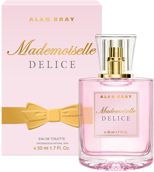 Alan Bray Mademoiselle Delice Туалетная вода 50 мл2001011613Mademoiselle Delice – Восхитительно нежный аромат Delice пробуждает энергию и радость жизни, наполняя легкостью и очарованием. Волнующий и изящный, он закружит в вихре безграничной фантазии. верхние ноты: лимон, бергамот, апельсин, черная смородина. ноты «сердца»: жасмин, роза, персик, водные цветы.ноты шлейфа: кедр, белый мускус, тиковое дерево, ванильКраткий гид по парфюмерии: виды, ноты, ароматы, советы по выбору. Статья OZON Гид