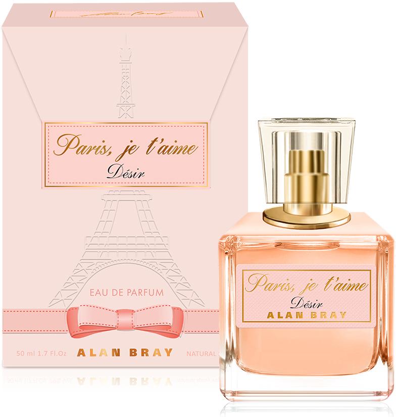 Alan Bray, Paris, je t'aime Desir ,парфюмированная вода 50 мл bond женская парфюмированная вода di gardini desir 100 мл