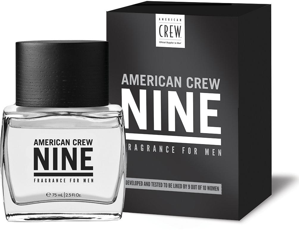 American Crew Nine Туалетная вода для мужчин, 75 мл7208444000Уникальный аромат, благодаря которому перед Вами не устоят 9 женщин из 10.Включает в себя запахи яблока, лаванды, кедрового дерева и янтаря.Краткий гид по парфюмерии: виды, ноты, ароматы, советы по выбору. Статья OZON Гид