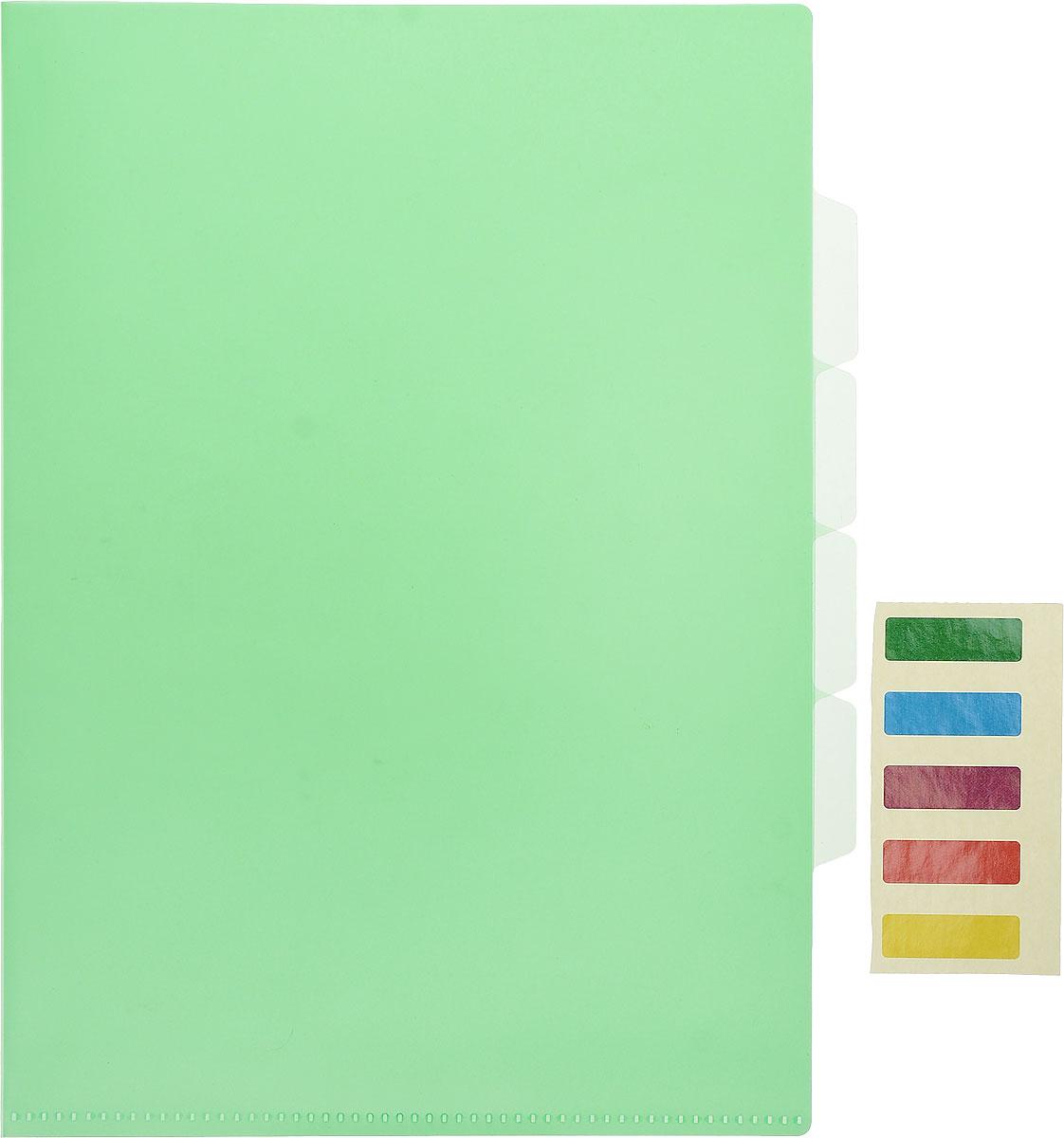 Бюрократ Папка-уголок цвет зеленый E356GRN854123_зеленыйБюрократ Папка-уголок цвет зеленый E356GRN