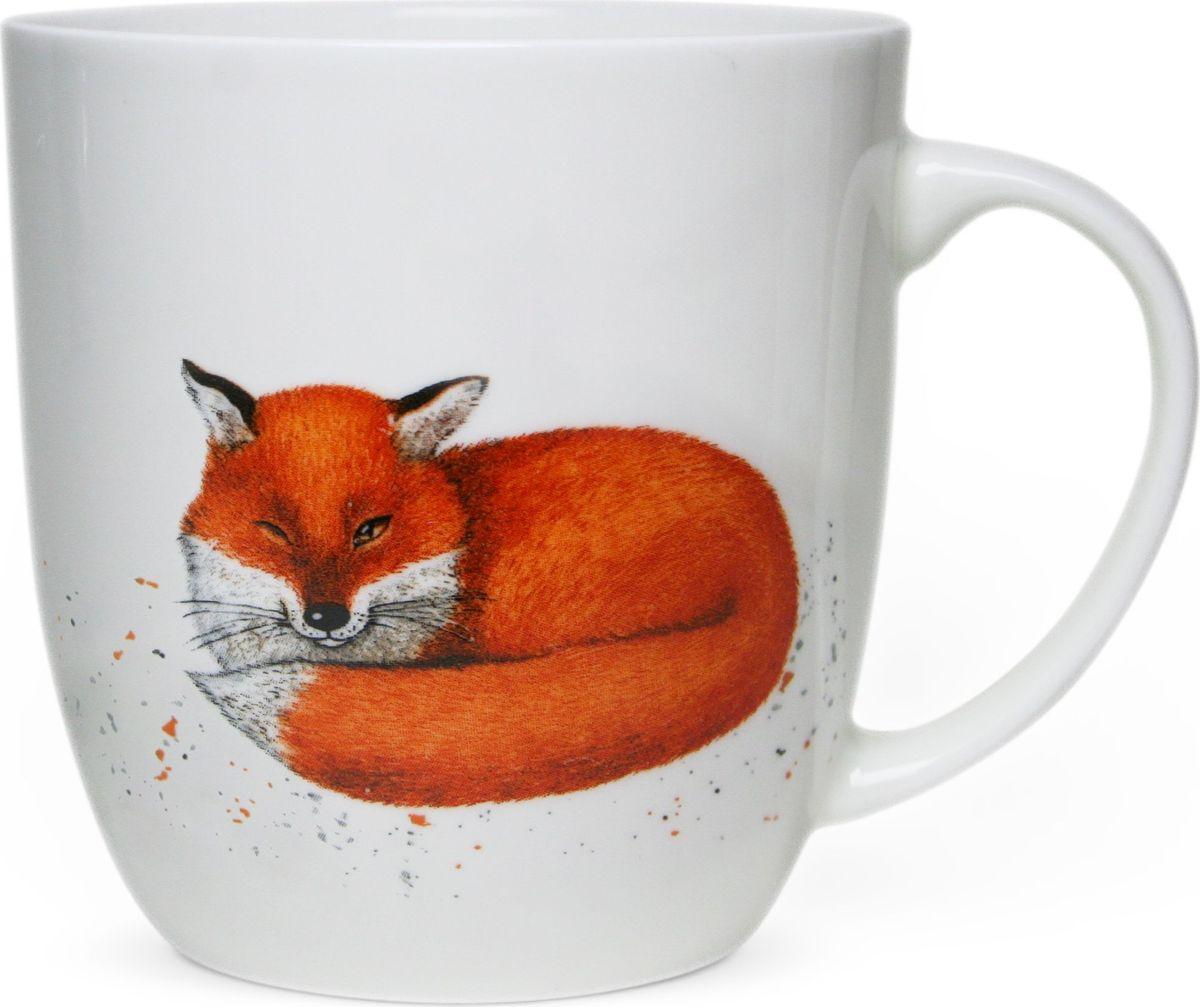 """Коллекционная кружка Priority """"Лиса"""" из костяного фарфора высокого качества. Рисунок, созданный талантливым российским художником,  станет прекрасным поводом улыбнуться первой утренней чашке кофе даже в самую хмурую погоду."""