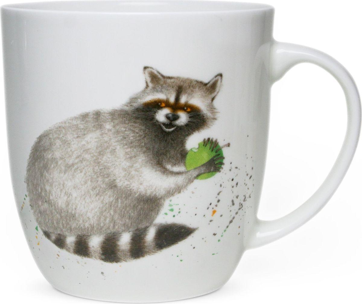 Кружка Priority Енот, 380 млКРС - 770Кружки Priority, с изображениями милых и озорных животных, так привлекают к себе внимание! Рисунки, созданные специально для этой серии талантливым российским художником, станут прекрасным поводом улыбнуться первой утренней чашке кофе или чая даже в самую хмурую погоду. Выполнена на сертифицированном китайском костяном фарфоре.Можно мыть в посудомоечной машине и использовать в СВЧ.