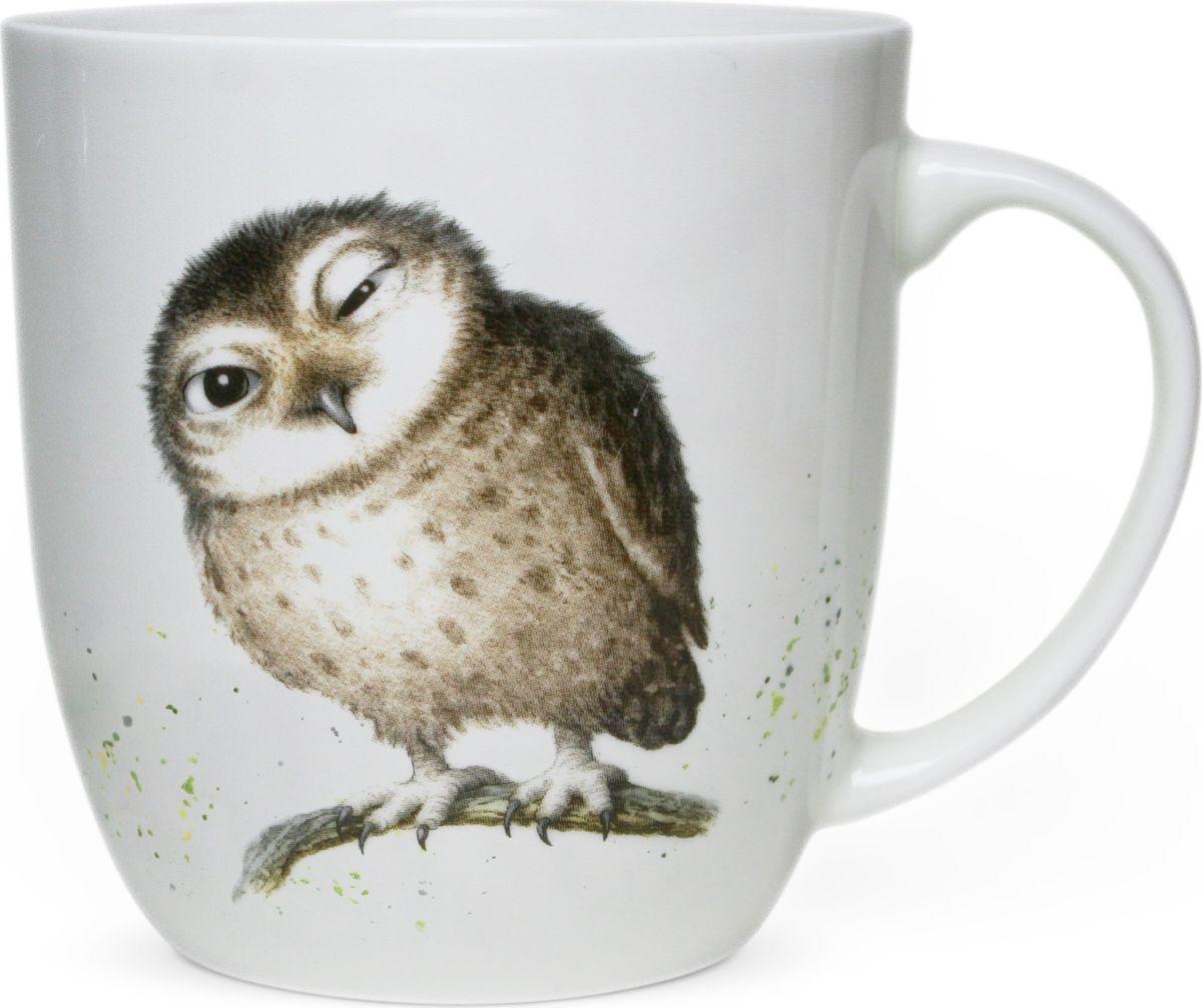 """Коллекционная кружка Priority """"Сова"""" из костяного фарфора высокого качества. Рисунок, созданный талантливым российским художником,  станет прекрасным поводом улыбнуться первой утренней чашке кофе даже в самую хмурую погоду."""