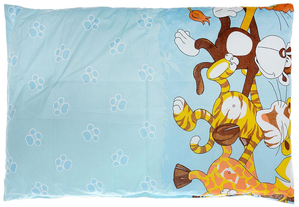 Сонный гномик Подушка детская Животные цвет голубой 60 х 40 см