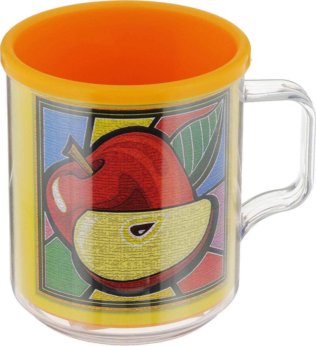 Термокружка Мартика Фрукты, цвет: оранжевый, желтый, 400 млС548_оранжевый,жёлтыйТермокружка Мартика Фрукты, цвет: оранжевый, желтый, 400 мл