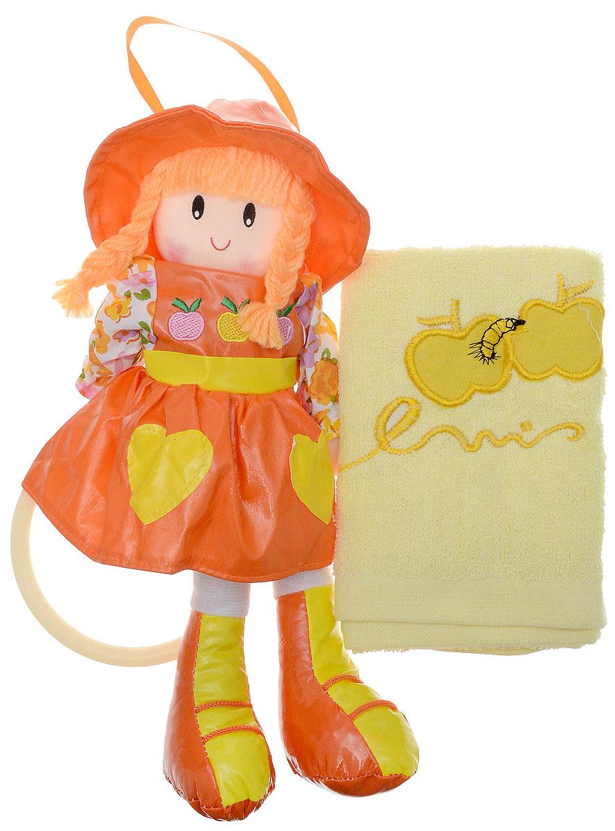 Sima-land Мягкая кукла Оля с держателем и полотенцем цвет оранжевый sima land мягкая кукла оля с держателем и полотенцем цвет желтый