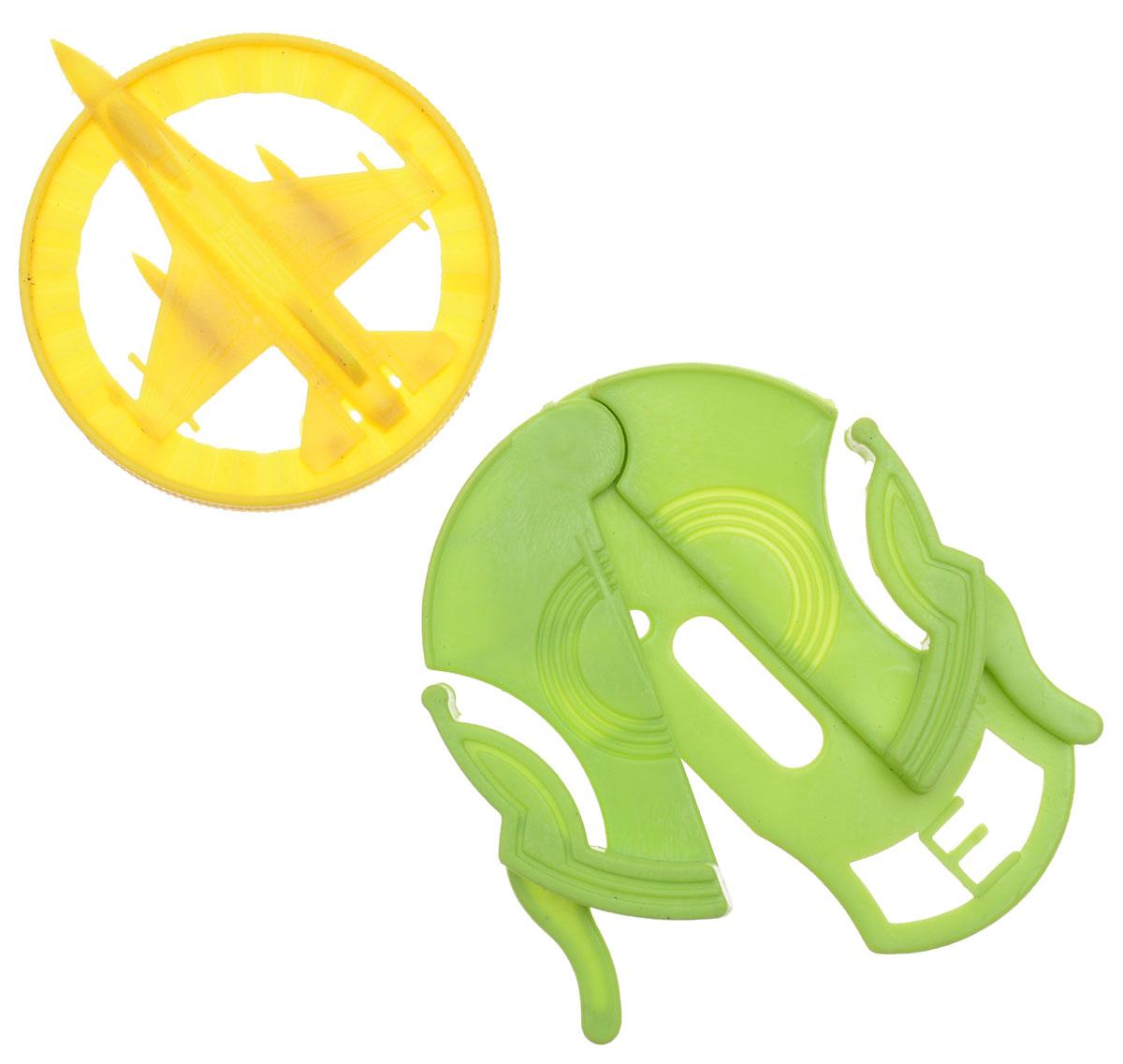 Sima-landСтрелялка цвет салатовый желтый Самолет 394294 Sima-land