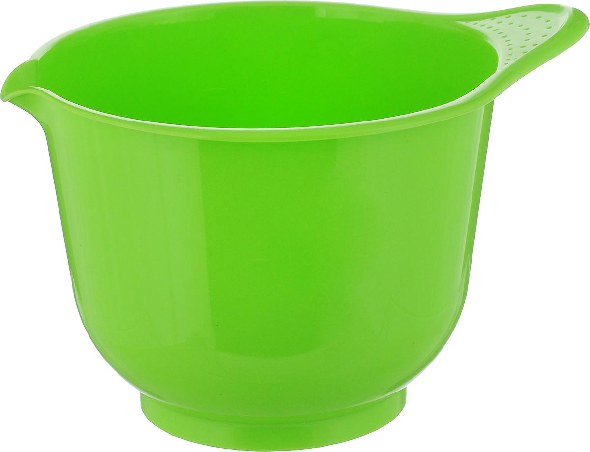 Миска для миксера Мартика Мадена, цвет: салатовый, 1.4 лС435Миска для миксера Мартика Мадена изготовлена из прочного пищевого пластика, имеет круглую форму. Благодаря высоким стенкам и удобной ручке в такой миске очень удобно смешивать продукты миксером. Носик поможет аккуратно вылить жидкость. Такая миска пригодится в любом хозяйстве, ее также можно использовать для хранения и сервировки различных пищевых продуктов. Можно мыть в посудомоечной машине.