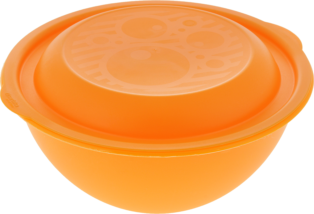 Салатник Мартика, с крышкой, цвет: оранжевый, 3 лС46КСалатница Мартика является лучшей емкостью для приготовления летних салатов. Салатник изготовлен с крышкой. Емкость изготовлена из ударопрочного пластика, который не сломается при первом ударе или падении. Пользоваться такой посудой можно не только дома, но и на даче, пикнике.Легкость и универсальность салатницы придет по вкусу каждому покупателю.