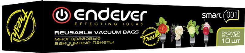 Пакеты вакуумные Endever Smart-001, многоразовые, 22 х 21 см, 10 шт пылесосы endever пылесос