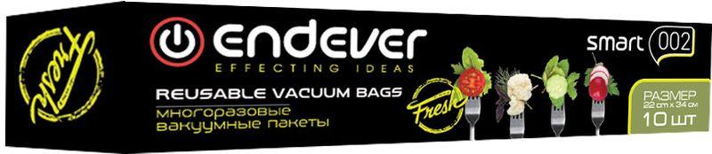 Пакеты вакуумные Endever Smart-002, многоразовые, 22 х 34 см, 10 штSmart 002Многоразовые вакуумные пакеты Endever Smart-002 удобны для использования. Надолго сохраняют свежесть продуктов. Совместимы с вакуумными упаковщиками Endever Smart 20/22.