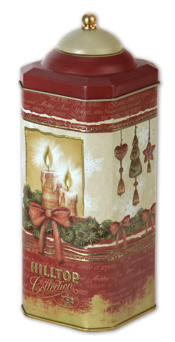 Hilltop Рождественская ночь Рождественский черный листовой чай, 125 г raffaello конфеты с цельным миндальным орехом в кокосовой обсыпке 240 г