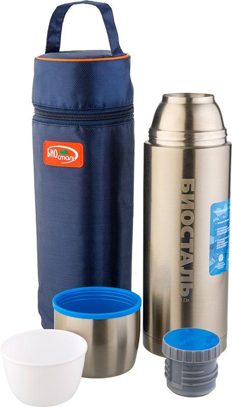 Термос Biostal Авто, цвет: серый металлик, 0,75 лNBP-750-1Термос с узким горлом Biostal относится к серии Авто премиум-класса. Термосы этой серии вобрали в себя самые передовые энергосберегающие технологии и отличаются применением более совершенных термоизоляционных материалов, а также новейшей технологией по откачке вакуума. Термос предназначен для хранения горячих и холодных напитков (чая, кофе) и сохраняет тепло 19 часов. Укомплектован двумя пробками (вторая пробка в подарок): пробка без кнопки надежна, проста в использовании и позволяет дольше сохранять тепло благодаря дополнительной теплоизоляции, пробка с кнопкой удобна в использовании и позволяет, не отвинчивая ее, наливать напитки после простого нажатия на кнопку.