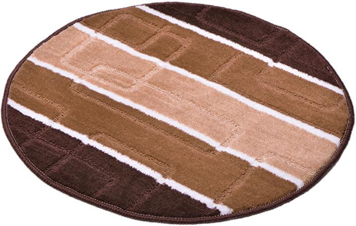 Коврик для ванной комнаты Dasch Авангард, цвет: коричневый, диаметр 55 см коврик круглый для ванной dasch орнелла
