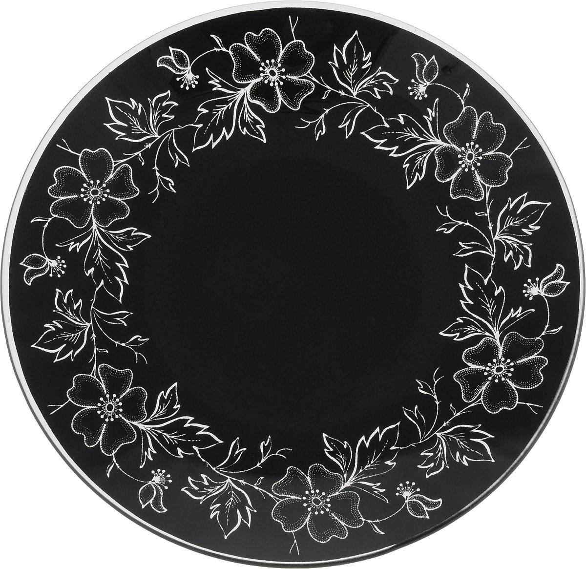 Тарелка Nina Glass Лара, цвет: черный, диаметр 20 смNG85-200-075BКруглая тарелка Nina Glass Лара выполнена из моллированного стекла. Высокая температура спекания делает изделие литым, сплошным, не боящимся в дальнейшем царапин. Такую посуду можно мыть в посудомоечной машине. Краска не отстанет, а поверхность безопасна при контакте с любой пищей. Такая тарелка будет служить вам долгое время.