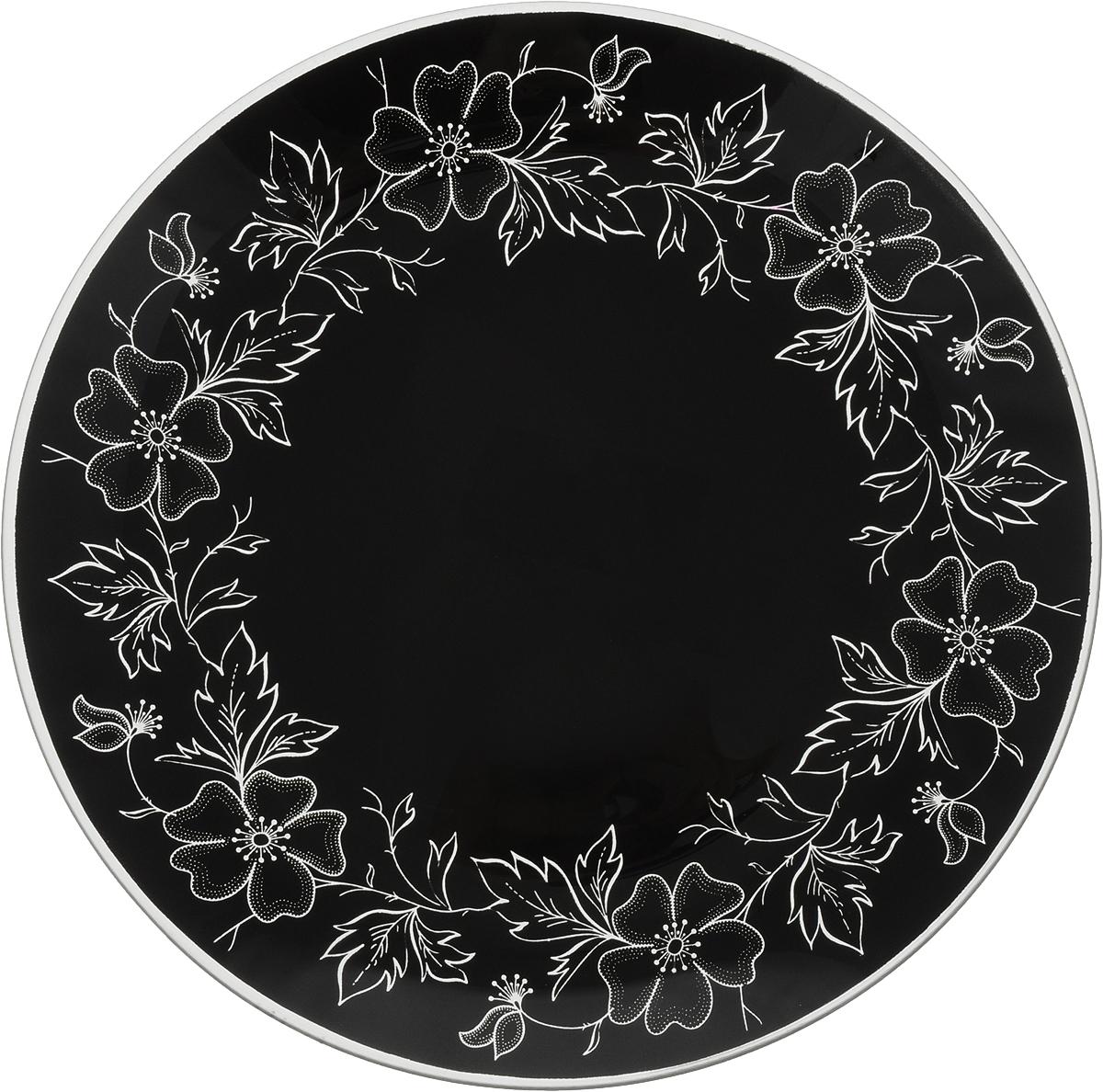 Тарелка Nina Glass Лара, цвет: черный, диаметр 26 смNG85-260-075BКруглая тарелка Nina Glass Лара выполнена из моллированного стекла. Высокая температура спекания делает изделие литым, сплошным, не боящимся в дальнейшем царапин. Такую посуду можно мыть в посудомоечной машине. Краска не отстанет, а поверхность безопасна при контакте с любой пищей. Такая тарелка будет служить вам долгое время.