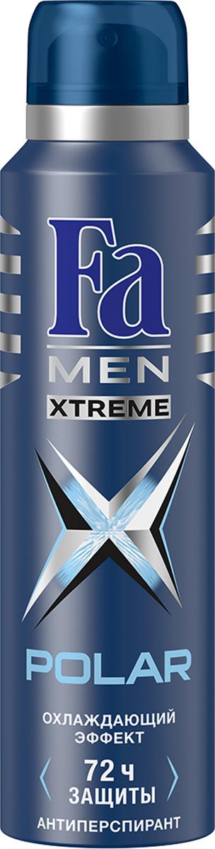 FA MEN Xtreme Дезодорант-аэрозоль Polar, 150 мл12083658Fa Men Xtreme Polar - Экстремальная защита от пота и запаха. С охлаждающим эффектом для длительного ощущения свежести.Инновационная формула с технологией Sweat Detect борется с потом еще до его появления.72ч доказанной защиты. 0 % спирта. Также почувствуйте притягательную свежесть, принимая душ с гелем для душа Fa Men Xtreme Polar.