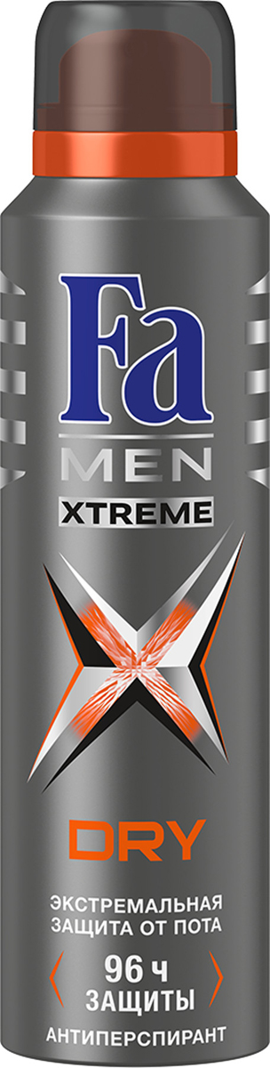 FA MEN Xtreme Дезодорант-аэрозоль Dry, 150 мл fa men xtreme гель для душа cool 250 мл