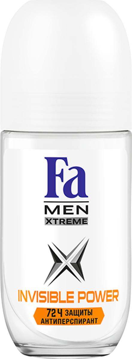 FA MEN Xtreme Дезодорант роликовый Invisible, 50 мл12085438Fa Men Invisible Power – Защита против пота, запаха и следов. Специальная формула обеспечивает надежную защиту от белых, желтых и масляных следов на одежде. Научно доказано: 72ч защиты от пота и запахаХорошая переносимость кожей подтверждена дерматологами.Также почувствуйте притягательную свежесть, принимая душ с гелем для душа Fa Men.