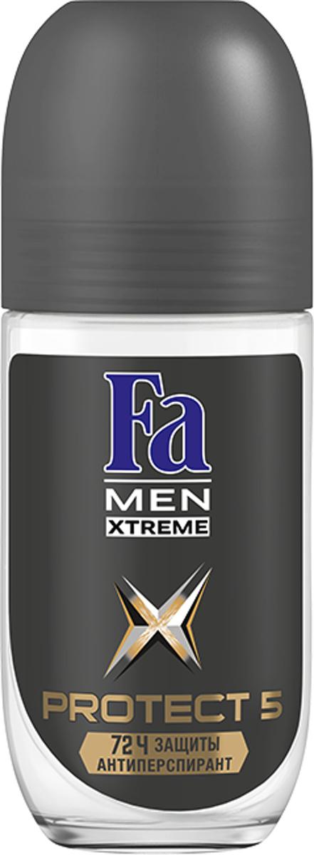 Fa Men Дезодорант-антиперспирант роликовый Xtreme Protect 5, 50 млMU475/SFa MEN Xtreme Protect 5 – эффективный антиперспирант и 5 действий против: пота, запаха, пятен, раздражения и зуда! 72 часа высокоэффективной защиты против влажности и запаха пота. Борется с источником запаха и обеспечивает длительную свежесть. Научно