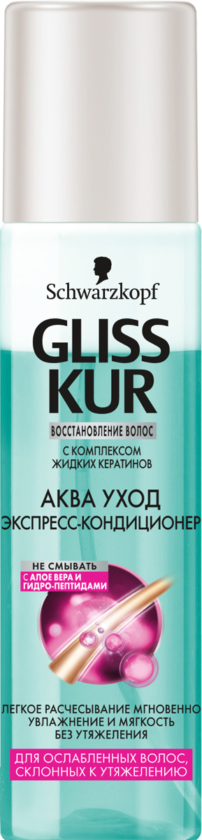 GLISS KUR Экспресс-Кондиционер Аква Уход, 200 мл gliss kur шампунь аква уход 250 мл